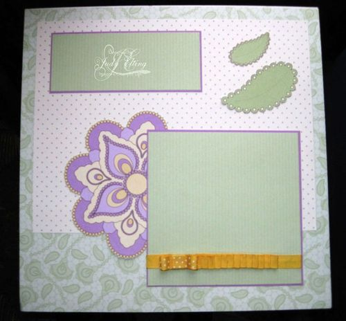 Shades of Spring Scrapbook Page